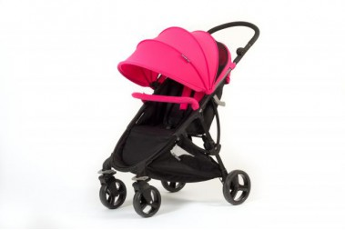 Poussette Duo compact BabyMonster + groupe0+ Rose